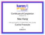 Canine Freestyle Certificate